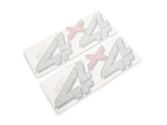 4x4 Decal; Red/Gray (99-06 Sierra 1500)