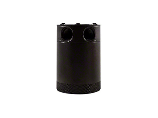 Mishimoto 2-Port Compact Baffled Oil Catch Can; Black (Universal Fitment)