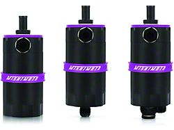 Mishimoto Baffled Oil Catch Can; Purple (Universal; Some Adaptation May Be Required)