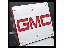 GMC Hitch Cover; Brushed Stainless (Universal; Some Adaptation May Be Required)