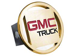 GMC Hitch Cover; Gold (Universal; Some Adaptation May Be Required)
