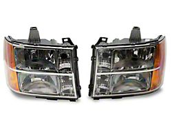 Axial OEM Style Replacement Headlights; Chrome Housing; Clear Lens (07-13 Sierra 1500)