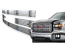 Stainless Steel Billet Upper Grille Insert; Chrome (14-15 Sierra 1500, Excluding Denali)