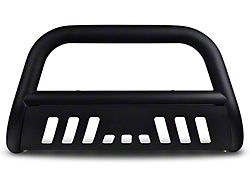Armordillo Bumper Push Bar; Bull Guard; With Matte Black Skid Plate; 3-Inch Tubing; Matte Black (99-06 Sierra 1500)