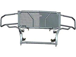 Rugged Grille Guard; Black Steel Modular; Includes 20-Inch LED Light Bar with Wiring Harness, Mounting Brackets and Hardware (14-18 Sierra 1500)