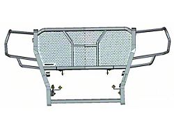 Rugged Grille Guard; Black Steel Modular; Includes 2-Set of Light Mounting Brackets; Excluding LED Light (19-21 Sierra 1500)
