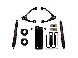 SkyJacker 3.50 to 4-Inch Upper Control Arm Suspension Lift Kit with Black MAX Shocks (07-13 4WD Silverado 1500)