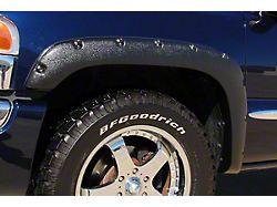 Fender Flare; Rivet Style; Rear; Textured Black Finish; 4 x 2-Inch; 2-Piece (99-06 Silverado 1500)