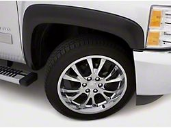 Fender Flare; Sport Style; Front and Rear; Smooth Black Finish; 6 x 1-Inch; 4-Piece (07-13 Sierra 1500)