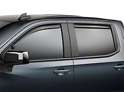 Weathertech Side Window Deflectors; Front and Rear; Dark Smoke (19-21 Sierra 1500 Crew Cab w/ Rubber Door Sill)