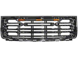 Upper Replacement Grille; Gloss Black (07-13 Sierra 1500)