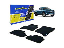 Goodyear Custom Fit Front and Rear Floor Liners; Black (14-18 Silverado 1500 Double Cab)
