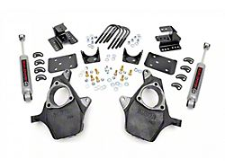 Rough Country Spindle Lowering Kit; 2-Inch Front / 4-Inch Rear (07-13 2WD Sierra 1500)