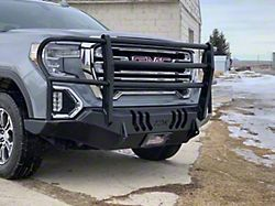 Throttle Down Kustoms Standard Front Bumper with Grille Guard; Bare Metal (19-21 Sierra 1500)