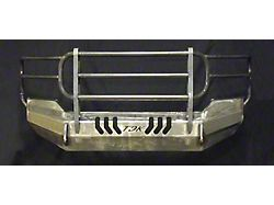 Throttle Down Kustoms Standard Front Bumper with Grille Guard; Bare Metal (16-18 Sierra 1500)