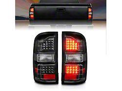 LED Tail Lights; Black Housing; Clear Lens (14-18 Sierra 1500 w/o Factory LED Tail Lights)