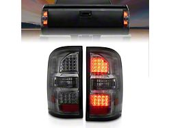 LED Tail Lights; Black Housing; Smoked Lens (14-18 Sierra 1500 w/o Factory LED Tail Lights)