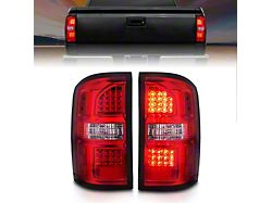 LED Tail Lights; Black Housing; Red Lens (14-18 Sierra 1500 w/o Factory LED Tail Lights)