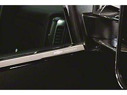 Stainless Steel Window Trim with Bowtie Logo (14-18 Sierra 1500 Double Cab)