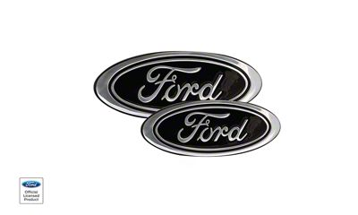 Defenderworx Super Duty Ford Oval Grille And Tailgate Emblems Black Sd0259 11 16 F 250 F 350 Super Duty