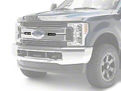 ZRoadz Two 6-Inch LED Light Bars with Upper Grille Mounting Brackets; Black (17-19 F-250/F-350 Super Duty Lariat, King Ranch)