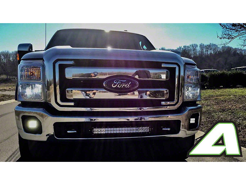 APOC 20 in. Curved LED Light Bar Bumper Mounting Brackets (11-16 F-250 Super Duty)