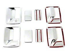 Door Handle Covers; Chrome (11-16 F-250 Super Duty SuperCrew)