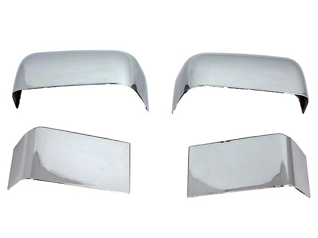 Mirror Covers; Chrome (11-16 F-250 Super Duty)