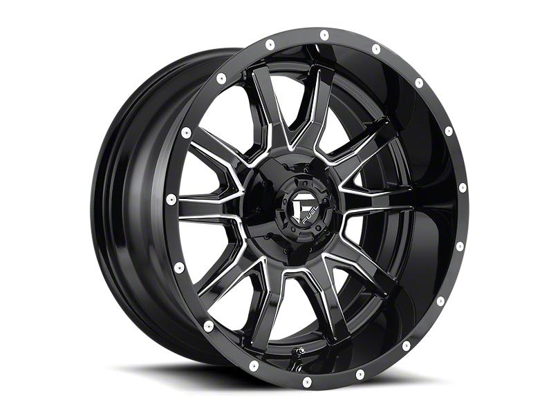 Fuel Wheels Vandal Gloss Black Milled 5-Lug Wheel; 20x9; 1mm Offset (07-13 Tundra)