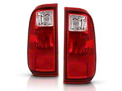 OE Style Tail Lights; Chrome Housing; Clear Lens (11-16 F-250/F-350 Super Duty)