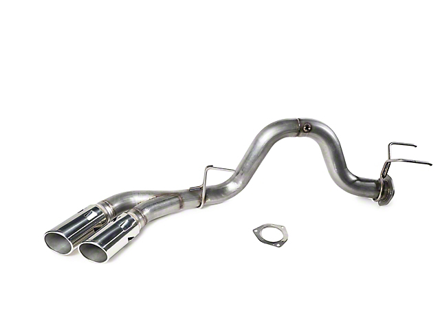 Roush Single Exhaust System with Polished Tips; Side Exit (17-20 6.7L Powerstroke F-250 Super Duty)