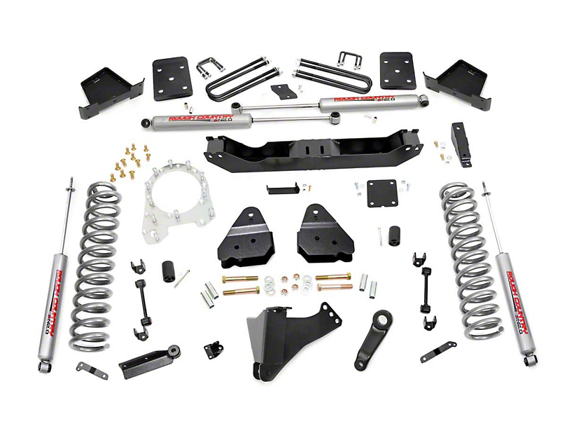Rough Country 4.5 in. Suspension Lift Kit w/ Premium N3 Shocks (17-20 4WD 6.7L Powerstroke F-250 Super Duty w/ 3.5 in. Rear Axle)