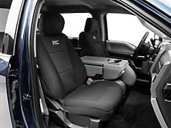 Rough Country Neoprene Front Seat Covers; Black (17-22 F-250/F-350 Super Duty)