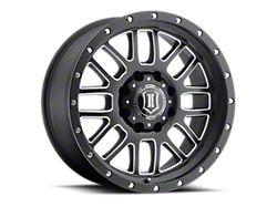 ICON Alloys Alpha Satin Black Milled 8-Lug Wheel; 20x9; 0mm Offset (11-16 F-250/F-350 Super Duty)