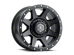 ICON Alloys Rebound HD Satin Black 8-Lug Wheel; 17x8.5; 6mm Offset (17-22 F-250/F-350 Super Duty)