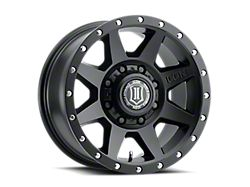 ICON Alloys Rebound HD Satin Black 8-Lug Wheel; 18x9; 6mm Offset (17-22 F-250/F-350 Super Duty)