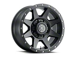 ICON Alloys Rebound Satin Black 8-Lug Wheel; 20x9; 6mm Offset (17-22 F-250/F-350 Super Duty)