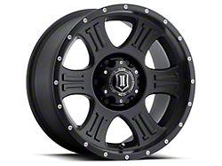 ICON Alloys Shield Satin Black 8-Lug Wheel; 20x9; 0mm Offset (17-22 F-250/F-350 Super Duty)