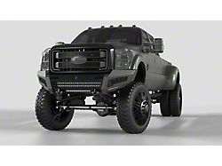 Road Armor iDentity Hyve Mesh Front Bumper with Shackle Center Section, WIDE End Pods, X3 Cube Light Pods and Accent Lights; Raw Steel (11-16 F-250/F-350 Super Duty)