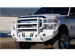Throttle Down Kustoms Standard Front Bumper with Grille Guard; Bare Metal (11-16 F-250/F-350 Super Duty)