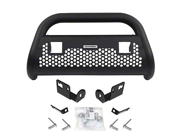 RC2 LR Bull Bar with Two 3-Inch Cube Lights; Textured Black (11-16 F-250 Super Duty)