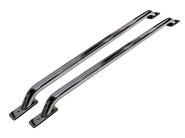 Stock Pocket Bed Rails; Chrome (11-16 F-250 Super Duty w/ 6-3/4 ft. Bed)