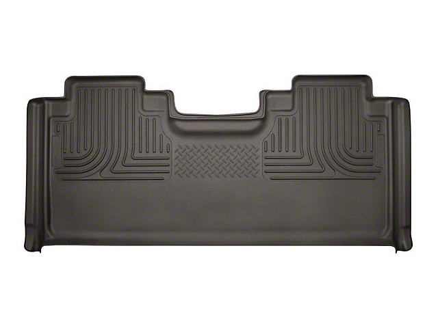 Husky WeatherBeater Second Seat Floor Liner; Full Coverage; Cocoa (17-20 F-250 Super Duty SuperCab)