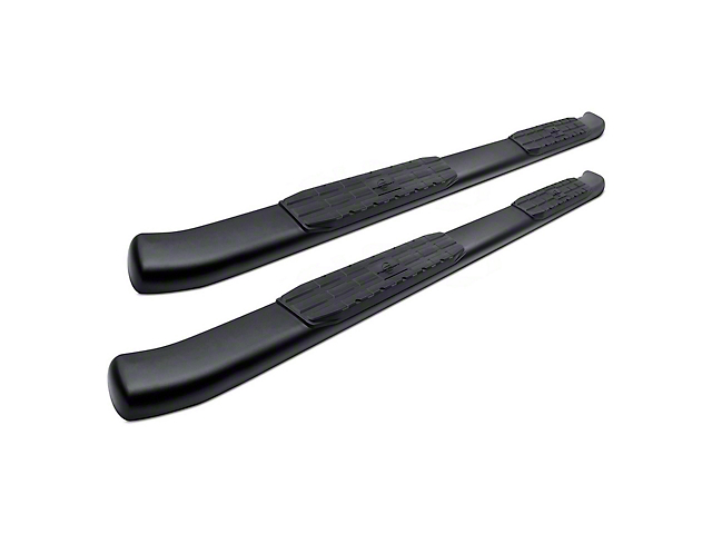 4X Series 4 in. Oval Side Step Bars - Black (17-19 F-250 Super Duty SuperCrew)