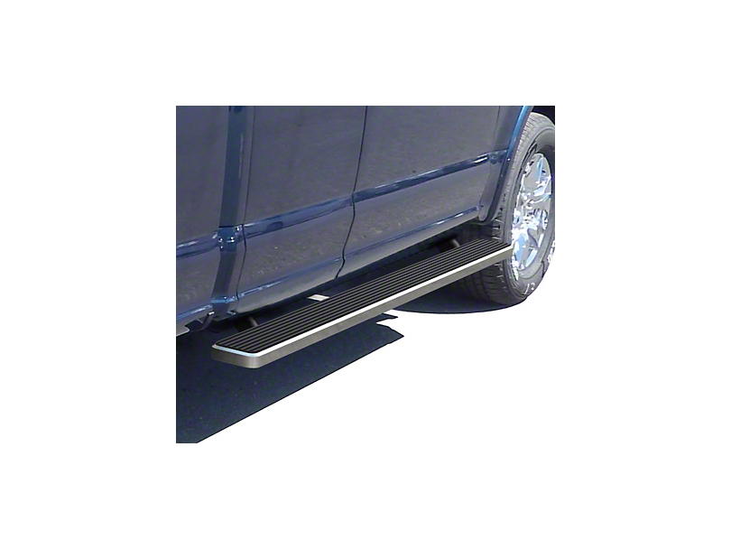 4 in. iStep Running Boards - Hairline Silver (17-20 F-250 Super Duty SuperCab)