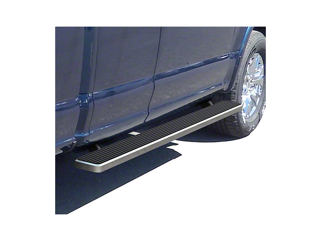 4-Inch iStep Running Boards; Hairline Silver (17-20 F-250 Super Duty SuperCab)