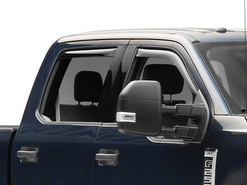 Weathertech Front & Rear Side Window Deflectors - Dark Smoke (17-19 F-250 Super Duty SuperCrew)
