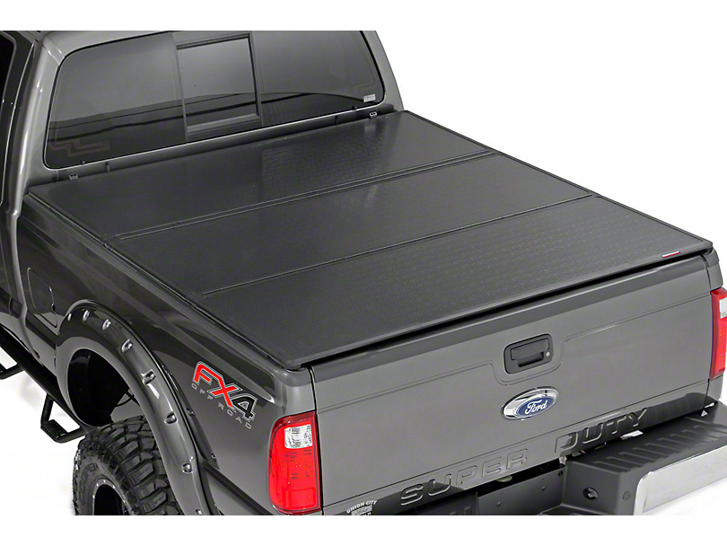 Rough Country Hard Tri-Fold Tonneau Bed Cover (11-16 F-250 Super Duty w/ 6-3/4 ft. Bed)