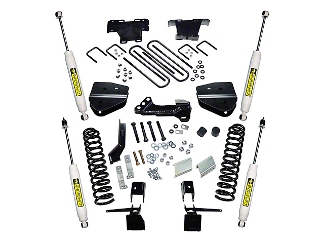 SuperLift 4 in. Spacer Suspension Lift Kit w/ Superide Shocks (17-20 4WD 6.7L Powerstroke F-250 Super Duty)