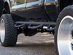 Havoc Offroad HS3 Hoop Side Step Bars; Textured Black (11-16 F-250/F-350 Super Duty SuperCrew w/ 6-3/4-Foot Bed)